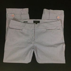 Talbots Signature Checked pants ladies 8 ankle